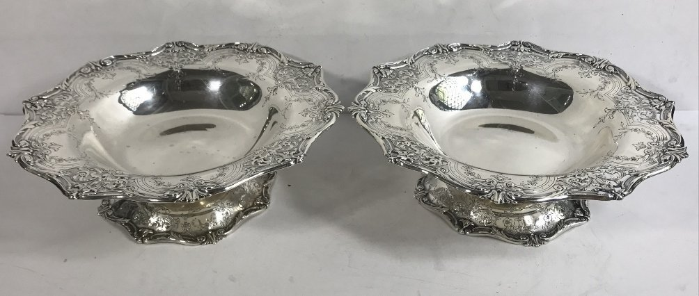 Two American sterling candy dishes, 24.7 t. oz