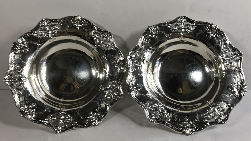 Two American sterling candy dishes, 24.7 t. oz - 7