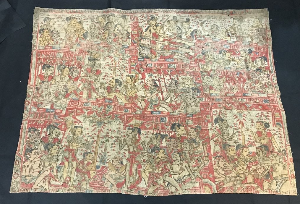 Painted Tibet or Indonesian textile