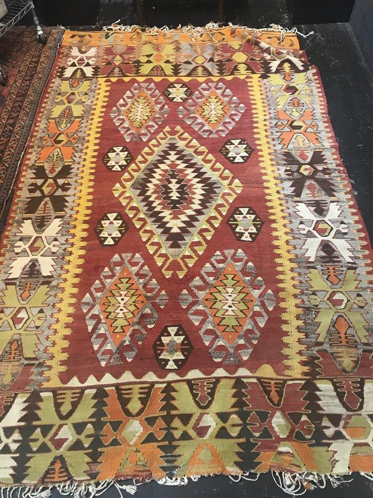 "Kilim wool carpet, 97"" x 59"""