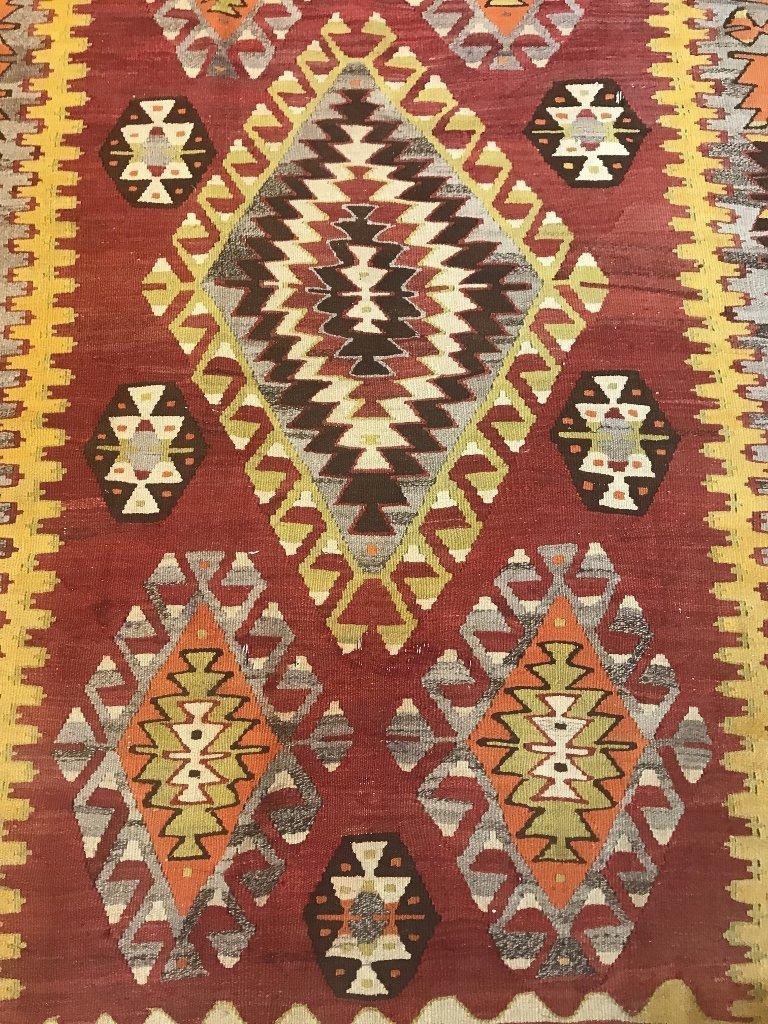 "Kilim wool carpet, 97"" x 59"" - 2"