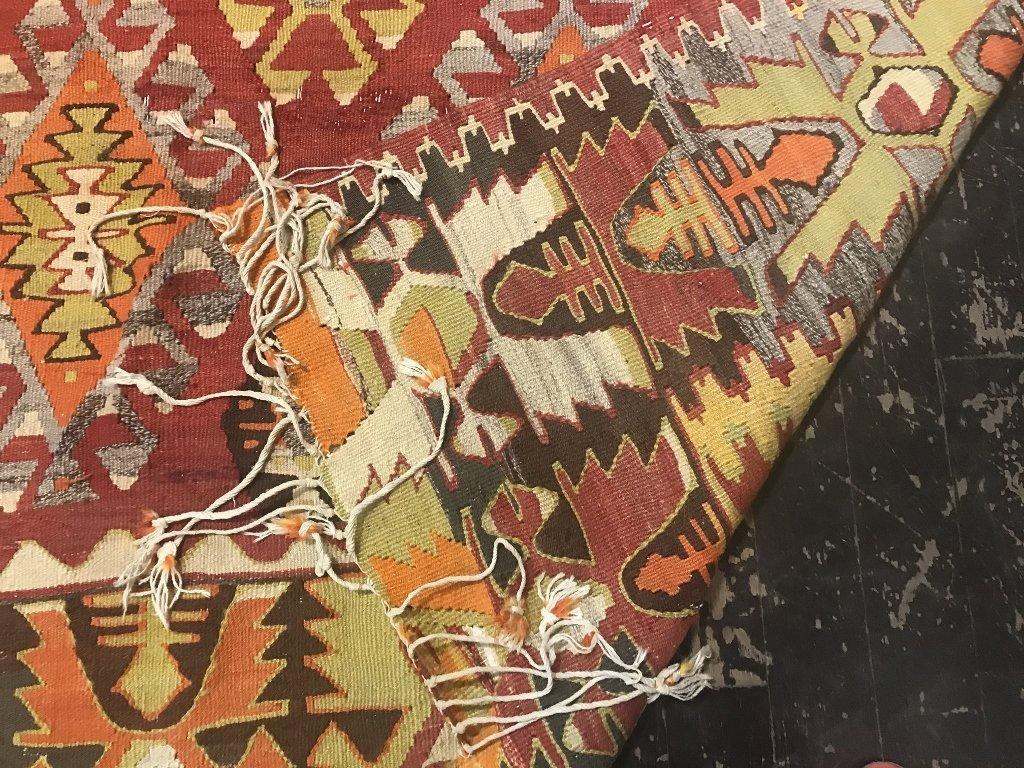 "Kilim wool carpet, 97"" x 59"" - 4"