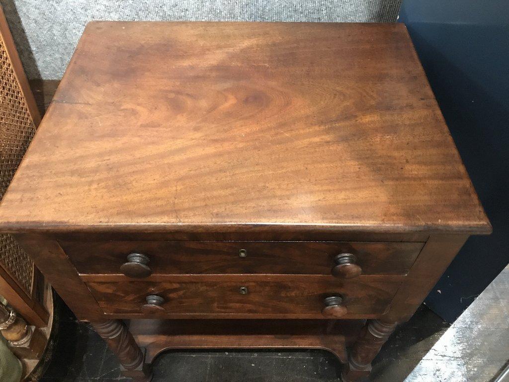 19th century 2 drawer mahog table - 2