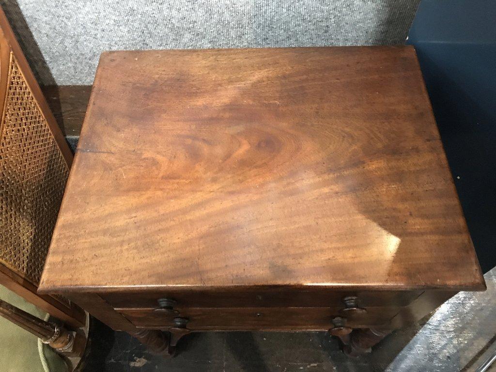 19th century 2 drawer mahog table - 5