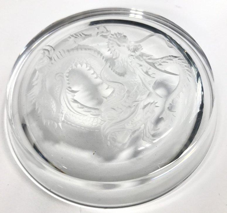 Two Hoya crystal dragon ashtrays - 5