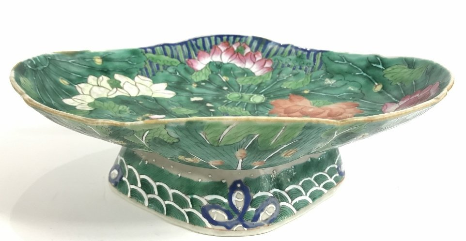 Chinese green and white shallow bowl - 2