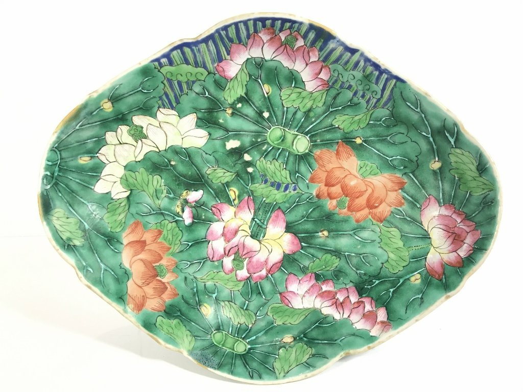 Chinese green and white shallow bowl - 3