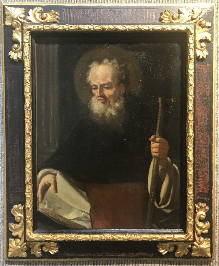 Old master painting of a Saint, c.1870