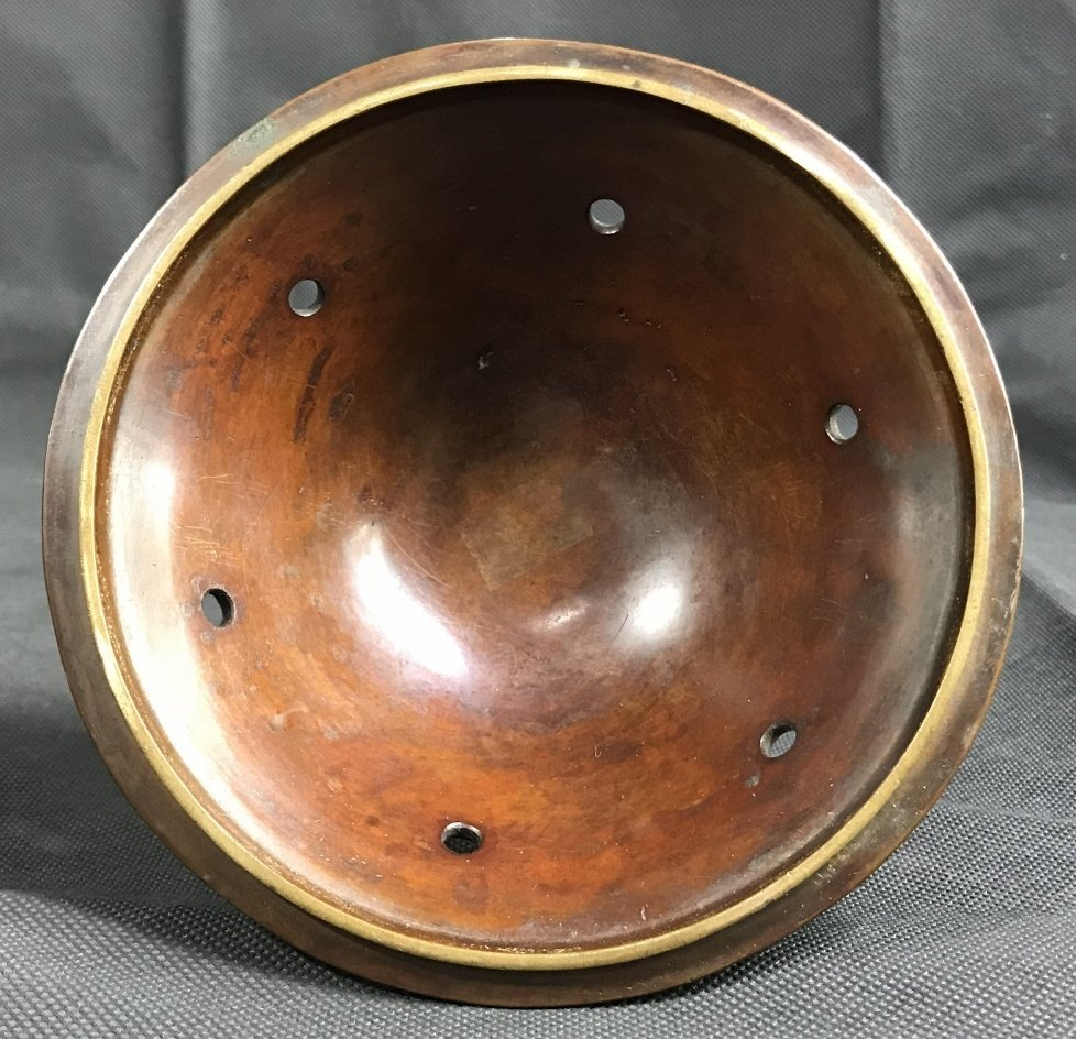 Japanese bronze lid, c.1880 - 8