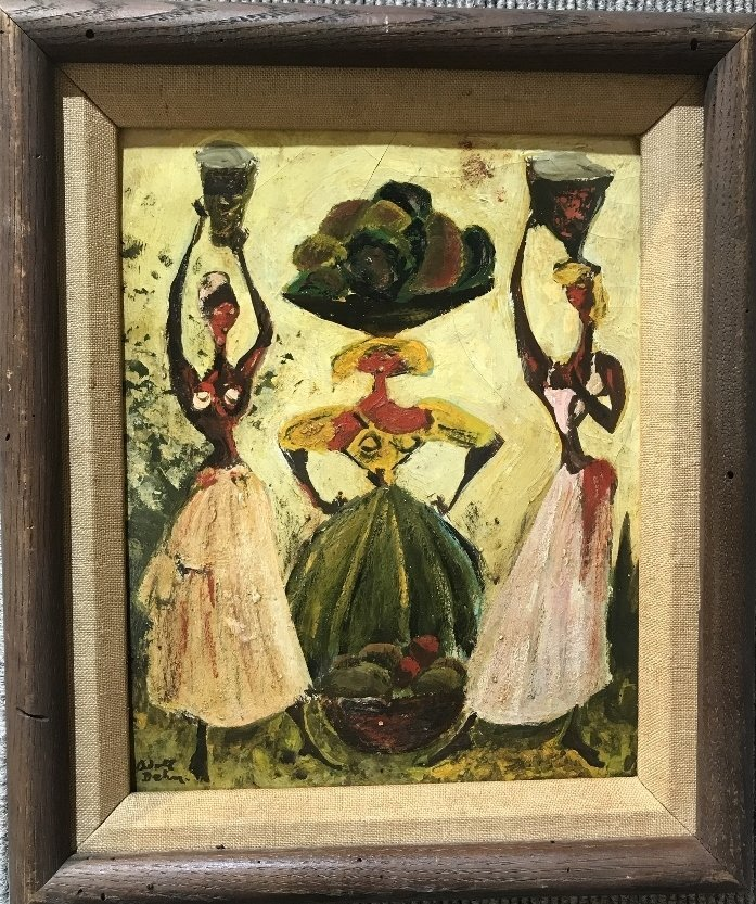 Painting of 3 women by Adolf Dehn