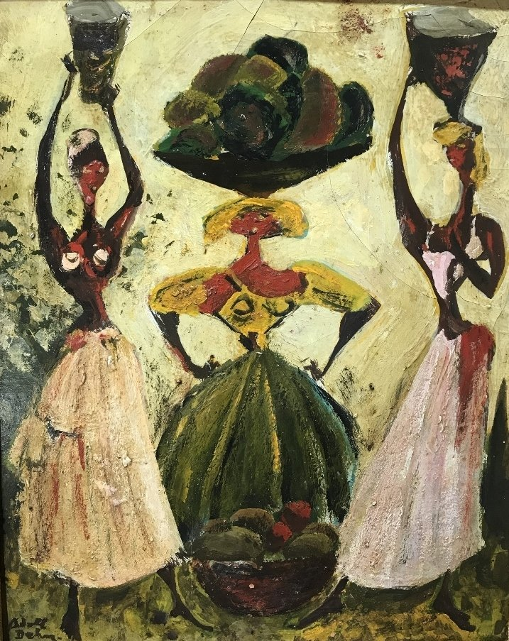 Painting of 3 women by Adolf Dehn - 4