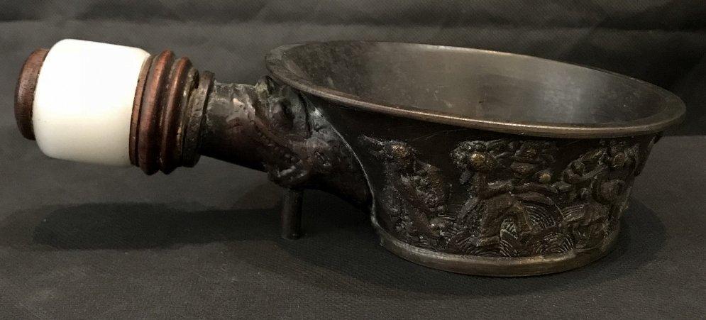 Chinese burner with white jade handle - 3