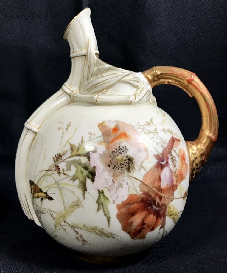 Royal Worcester pitcher with decoration, c.1880