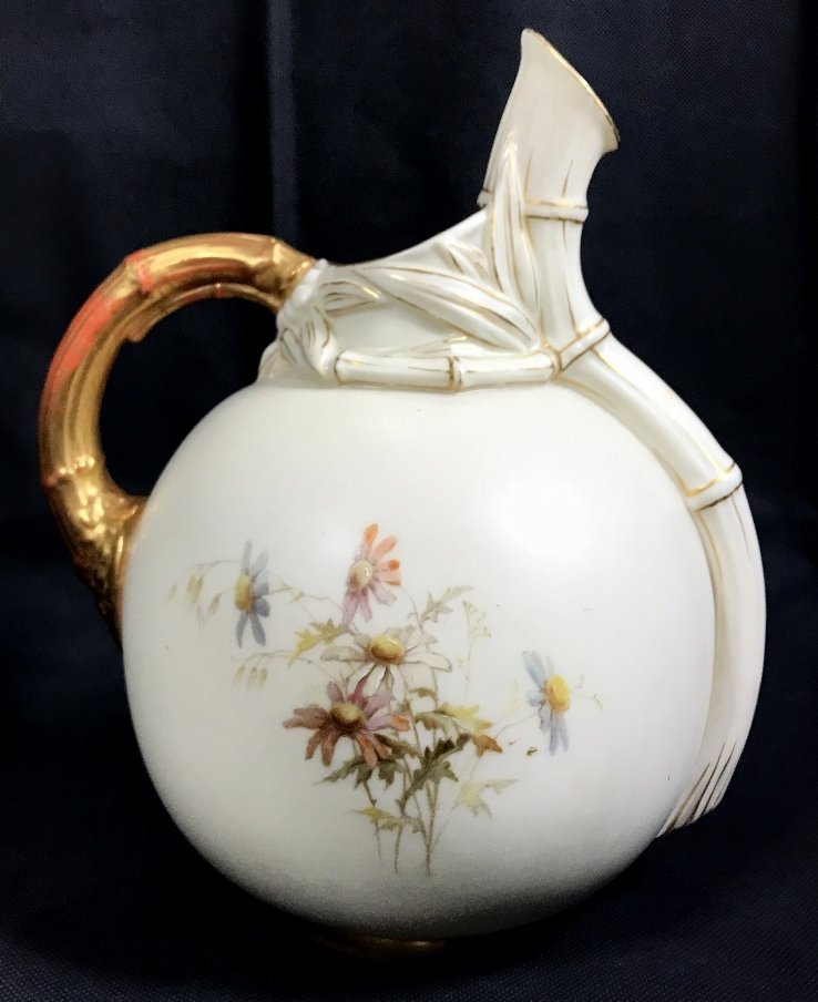 Royal Worcester pitcher with decoration, c.1880 - 3