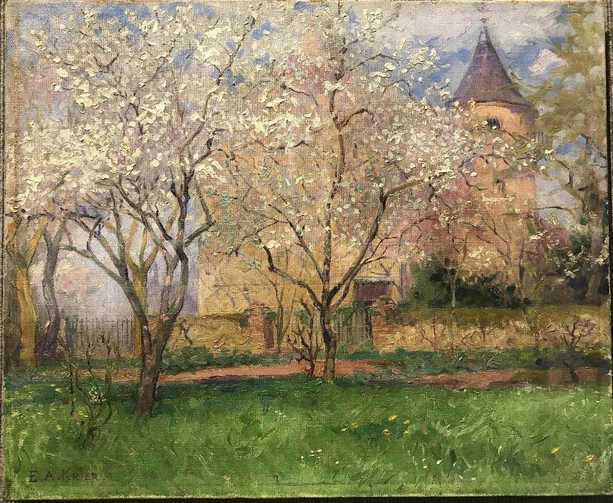 """Ptg of """"Spring"""" by Etienne-Auguste Krier(French)c.1910"""