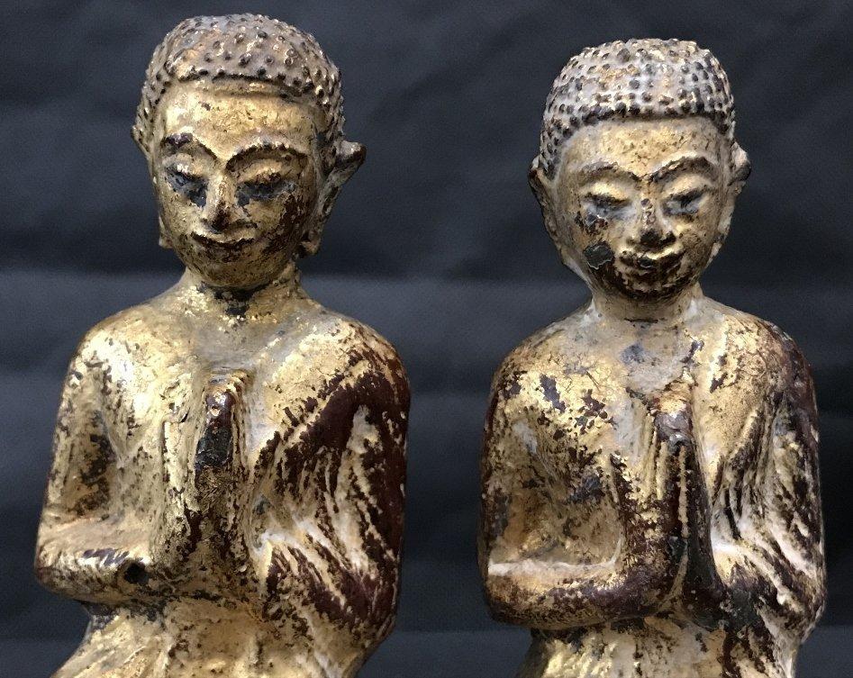 Two gilt metal praying monks, 18th/19th century - 7