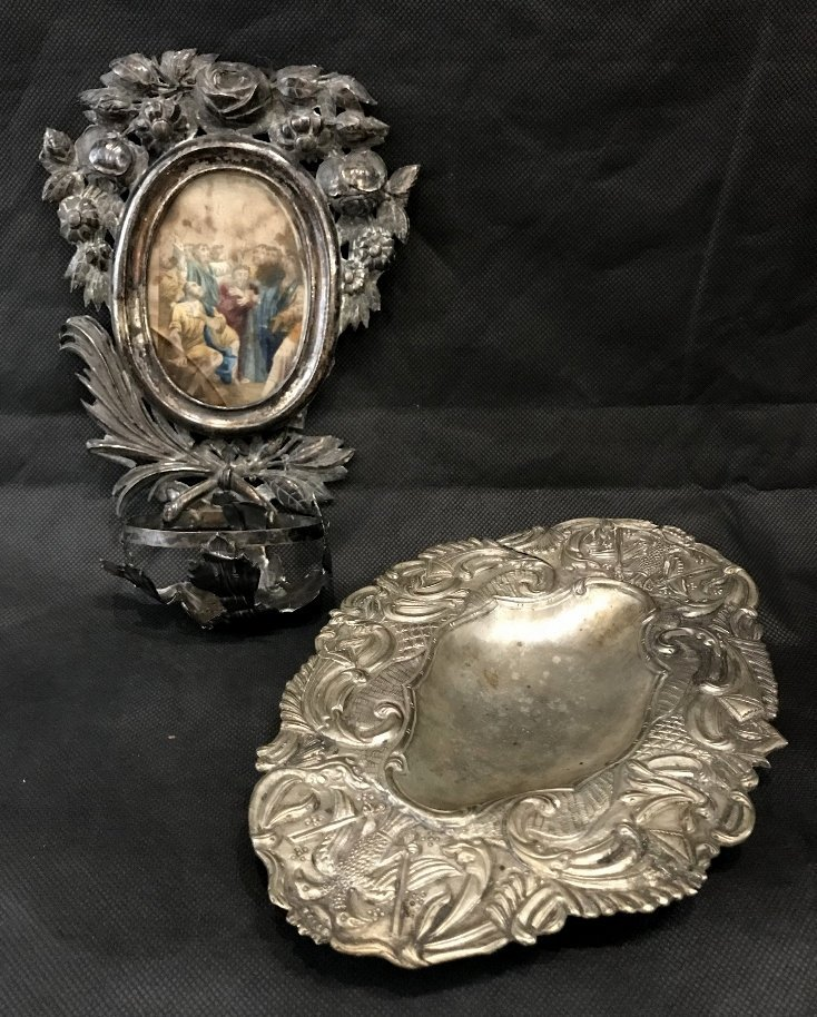 Two early South American silver items
