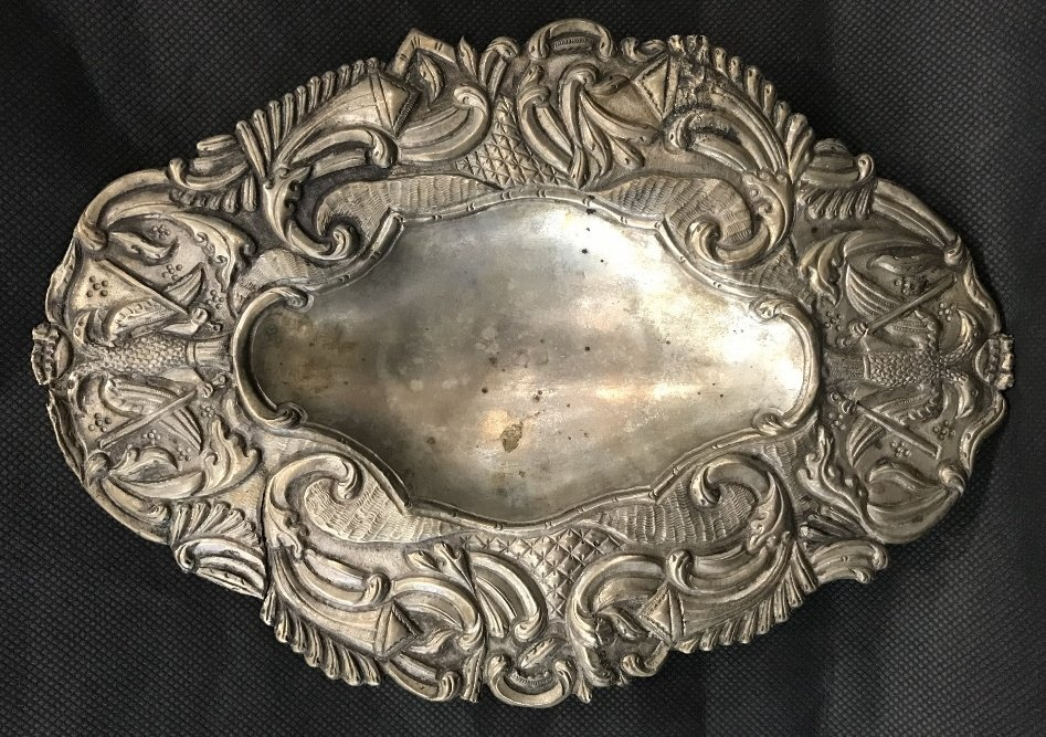 Two early South American silver items - 9