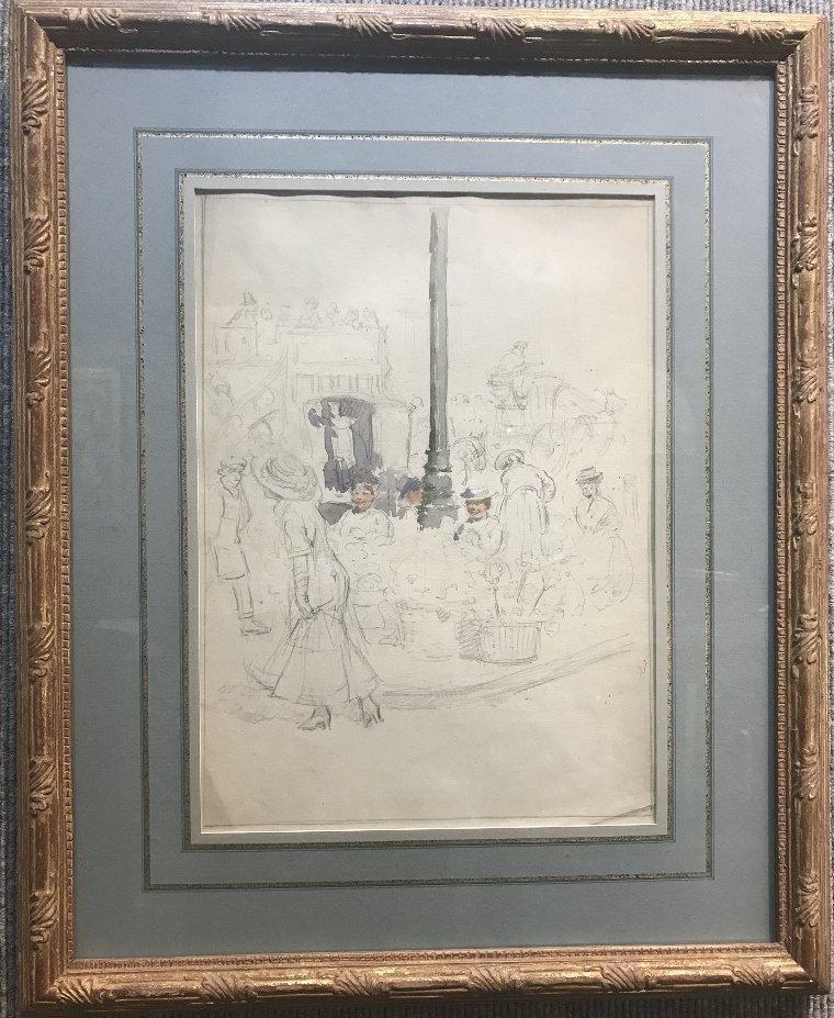 """Paris Street Scene"" Francis L Mora, watercolor"