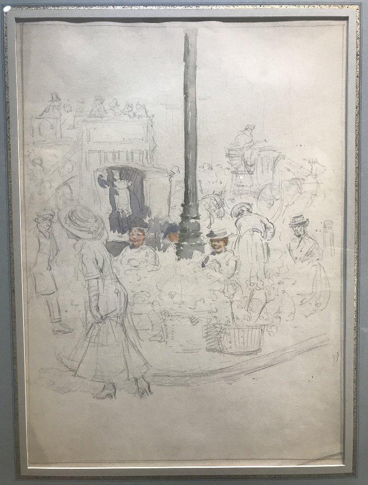 """Paris Street Scene"" Francis L Mora, watercolor - 2"