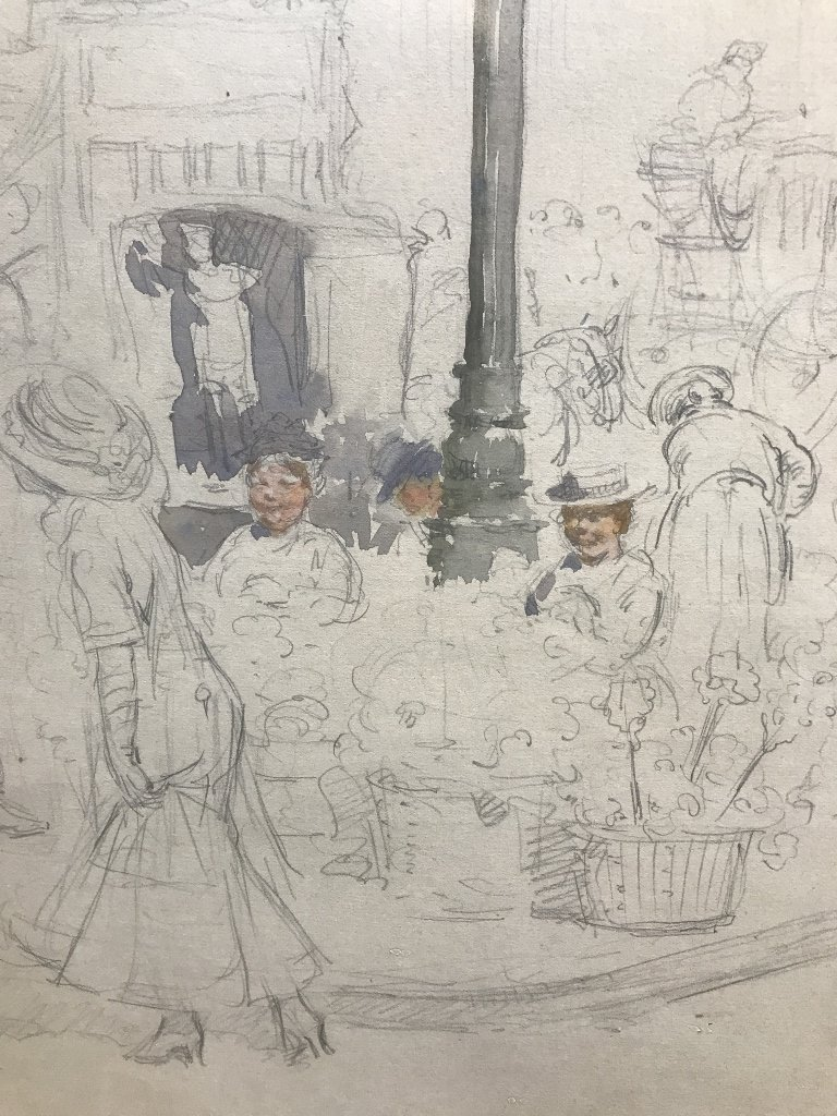"""Paris Street Scene"" Francis L Mora, watercolor - 3"