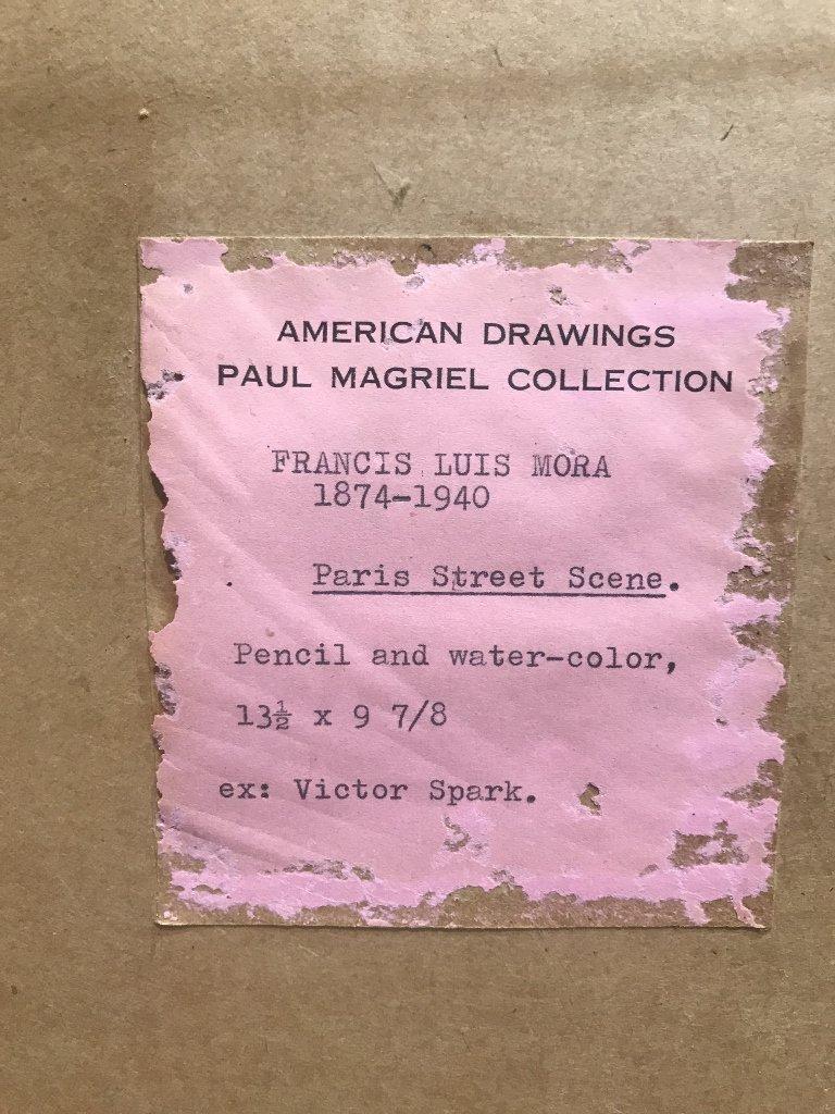 """Paris Street Scene"" Francis L Mora, watercolor - 6"