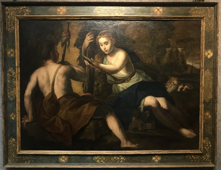 Large Old master, Adam and Eve, 18th/19th century