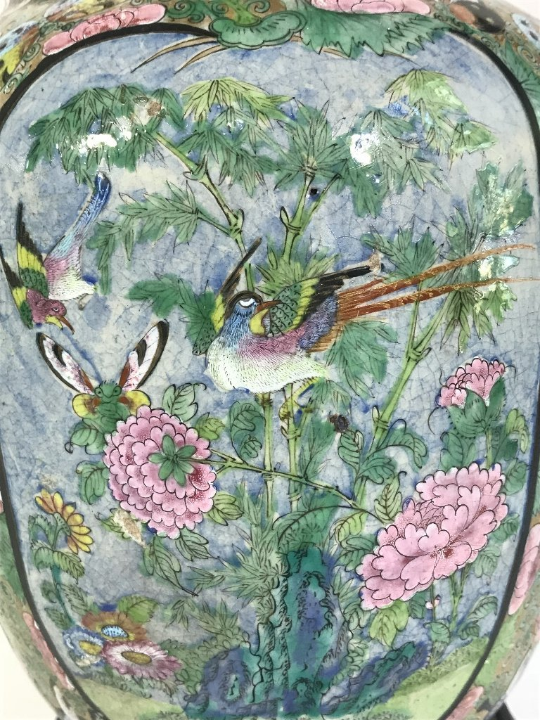 Chinese lamp with butterflies and insects - 2
