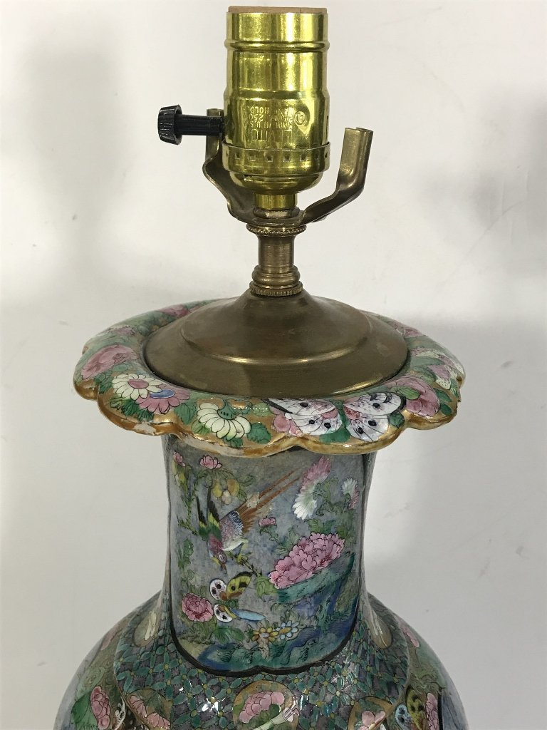 Chinese lamp with butterflies and insects - 3