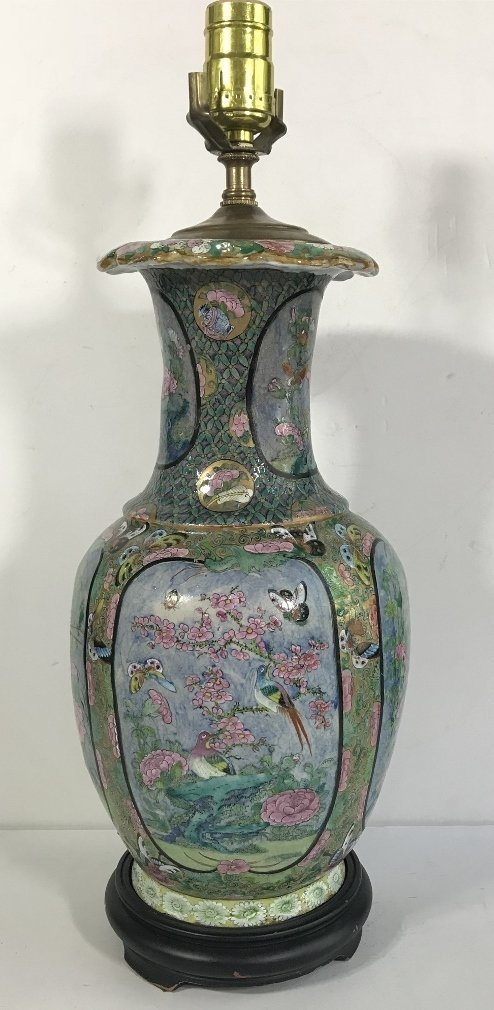 Chinese lamp with butterflies and insects - 4