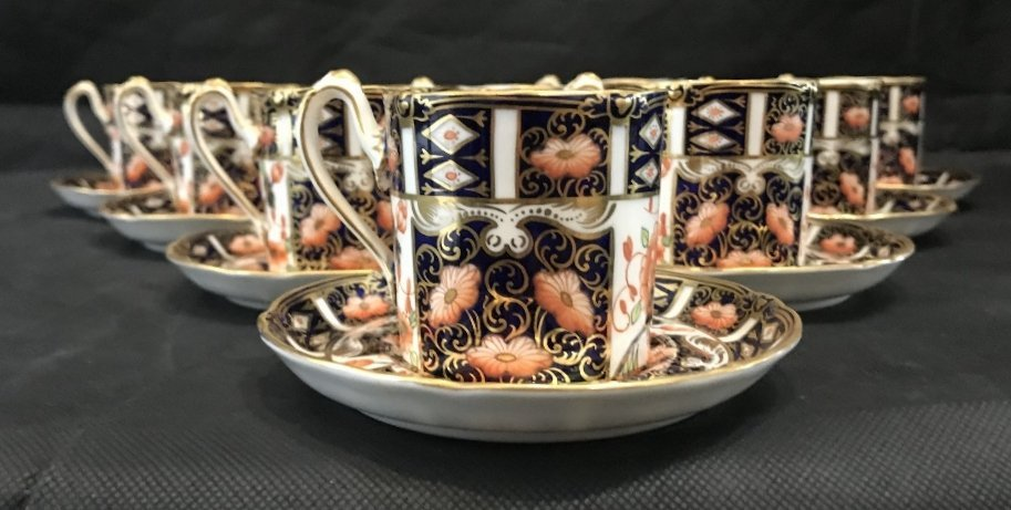 Royal Crown Derby Imari cups and saucers(set of 10) - 2