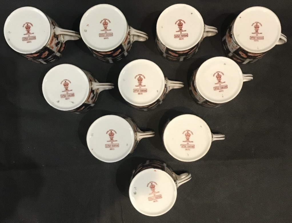 Royal Crown Derby Imari cups and saucers(set of 10) - 9