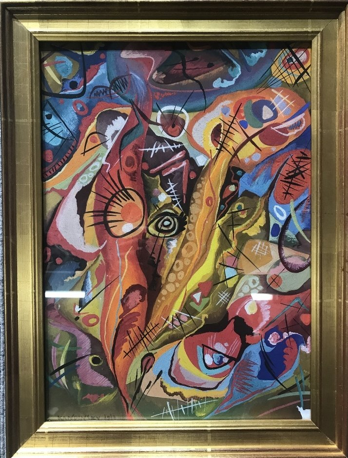 """Gouache signed """"Kandinsky 1913""""-Ambassador"""