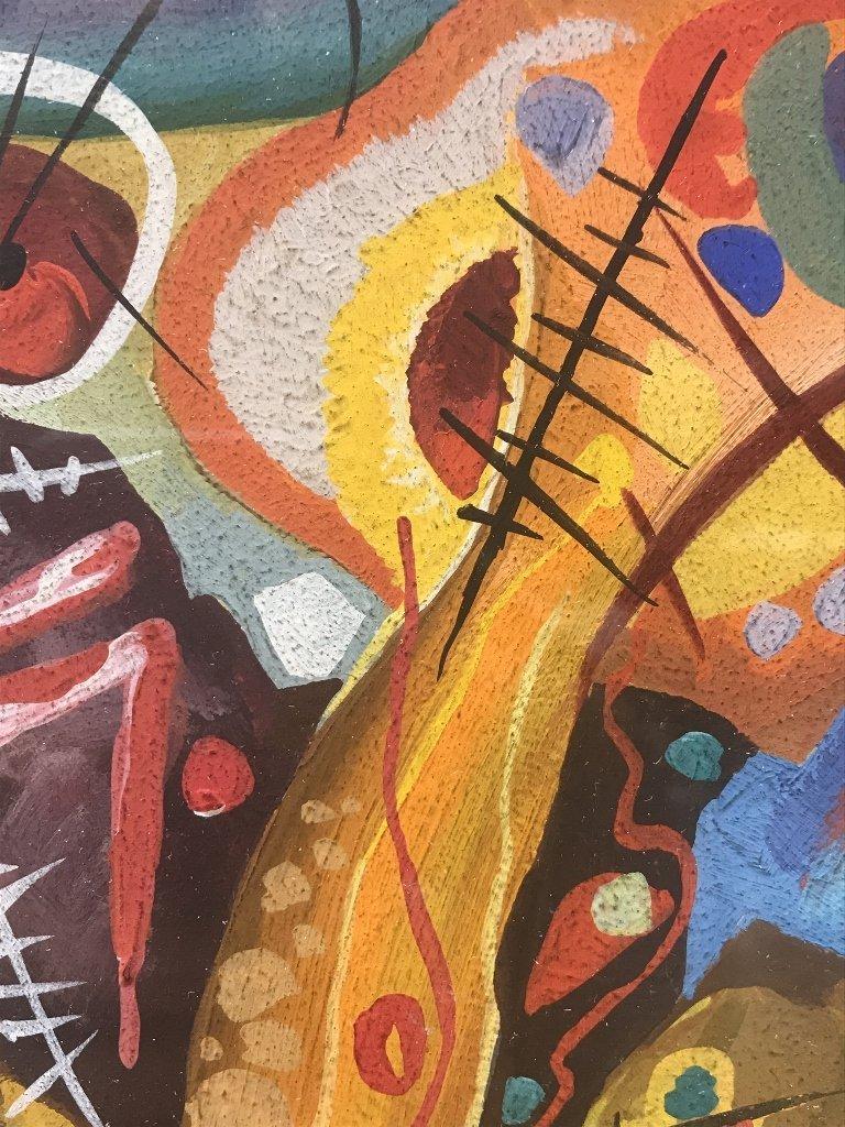 """Gouache signed """"Kandinsky 1913""""-Ambassador - 4"""