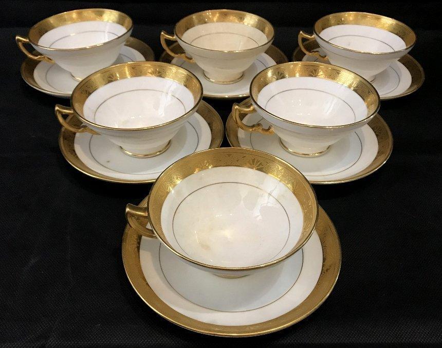 Set 6 Tiffany & Co Minton C&S, c.1900