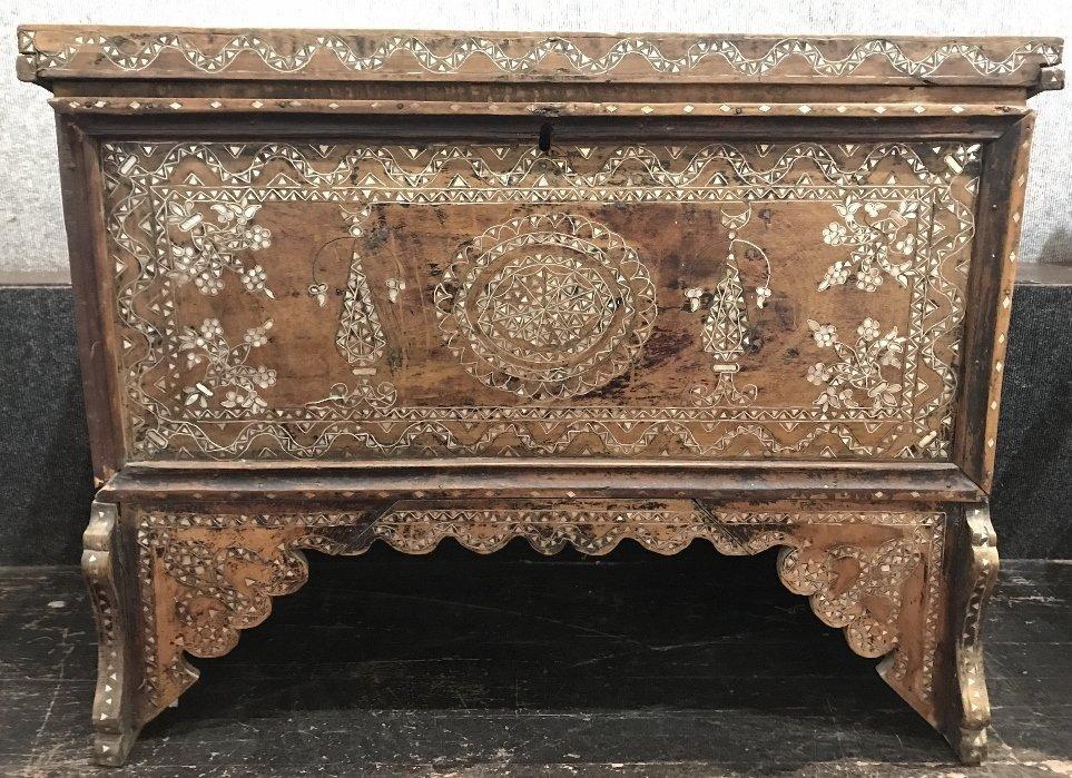 Inlaid wood chest, Third World