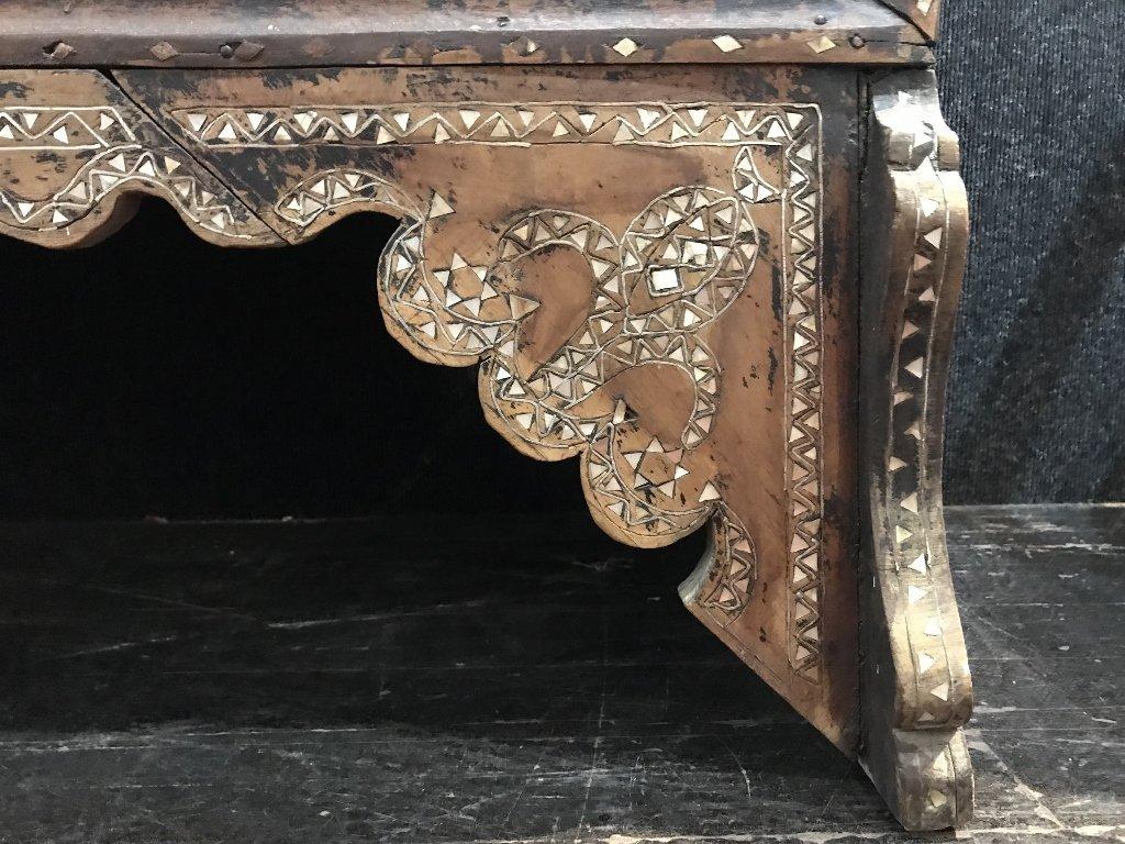 Inlaid wood chest, Third World - 6