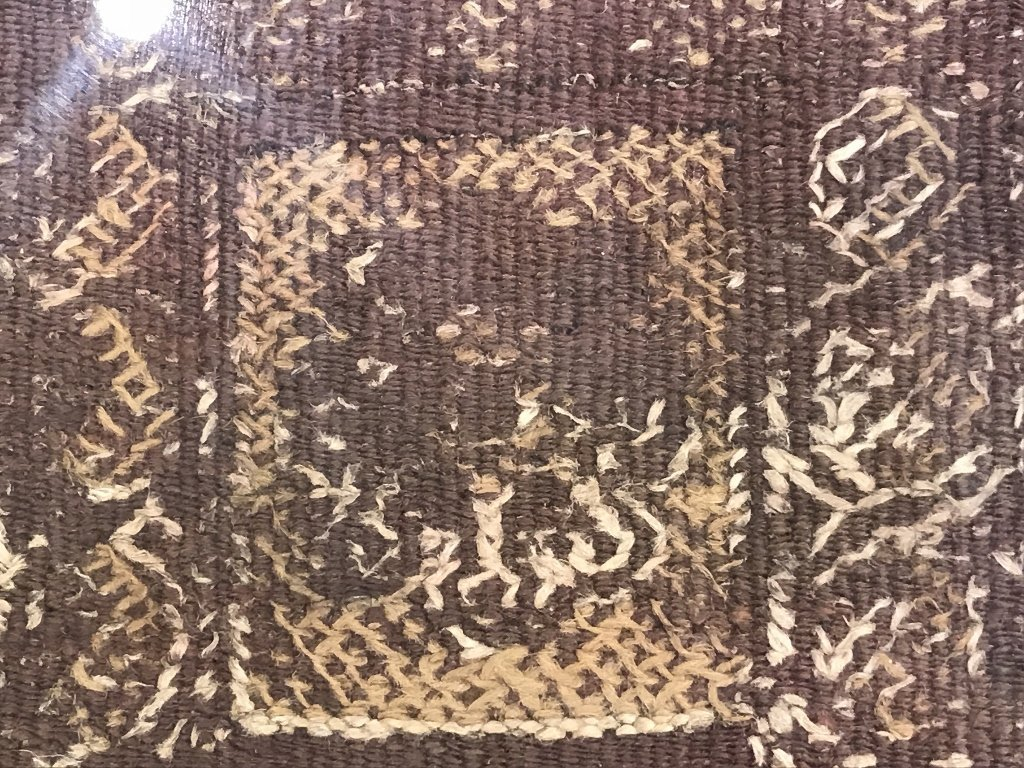 Framed early textile, two pieces - 6