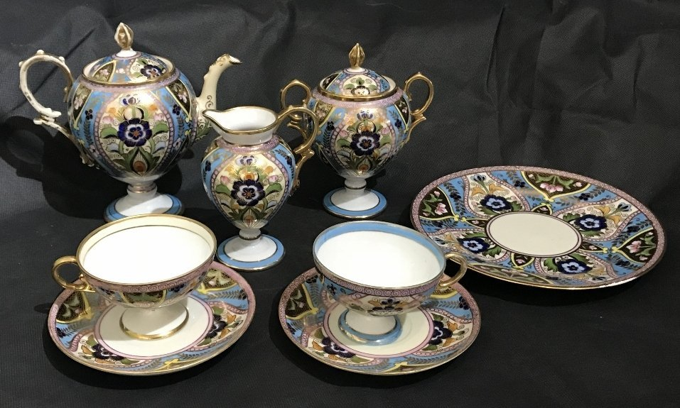 Noritake porcelain tea set, Russian design, c.1920