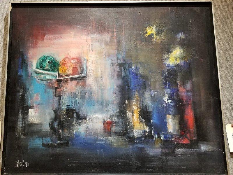 Abstract painting by Antoni Estradera(1909-1985)