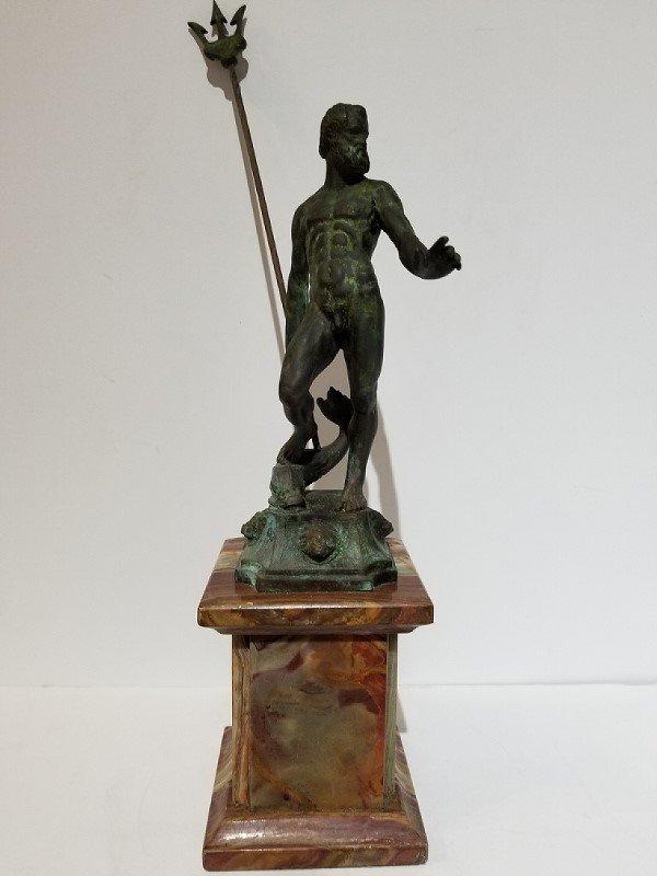 Neptune bronze with trident, c.1900.
