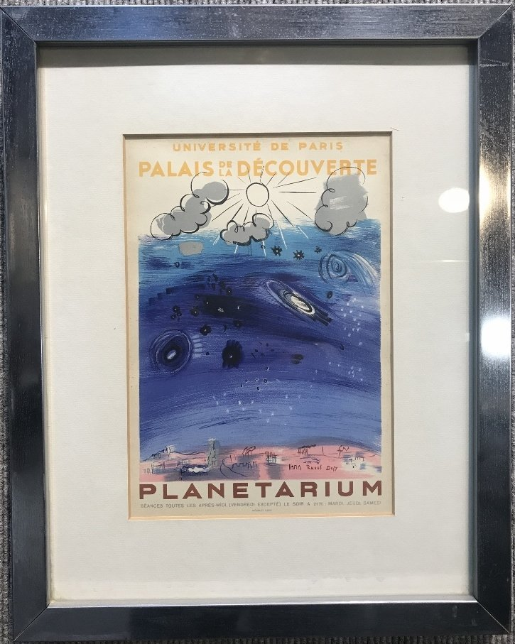 Period lithograph of Raoul Dufy Planetarium poster