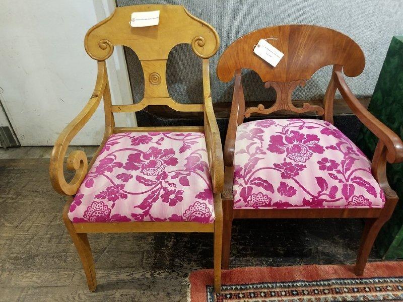 Two Biedermeier style chairs, circa 1900