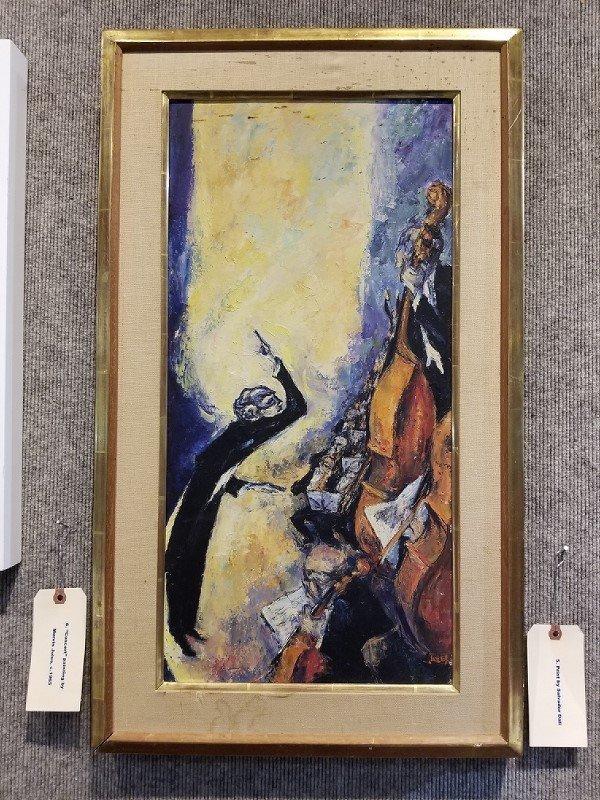"""Concert"", painting by Mervin Jules, c.1965"