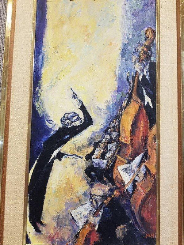 """Concert"", painting by Mervin Jules, c.1965 - 2"
