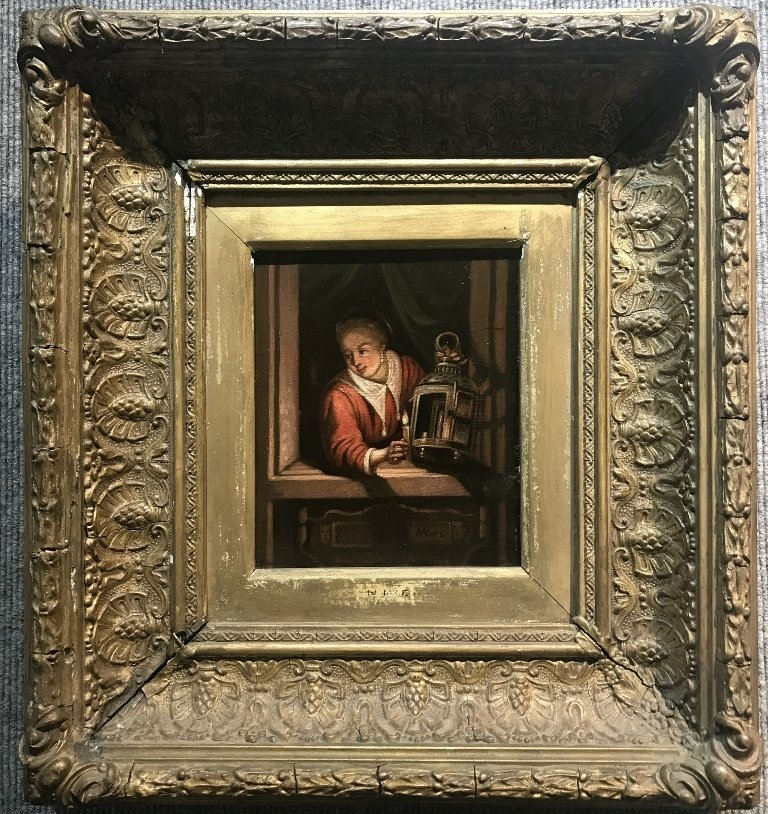 """Old Master painting signed """"NMaes"""""""