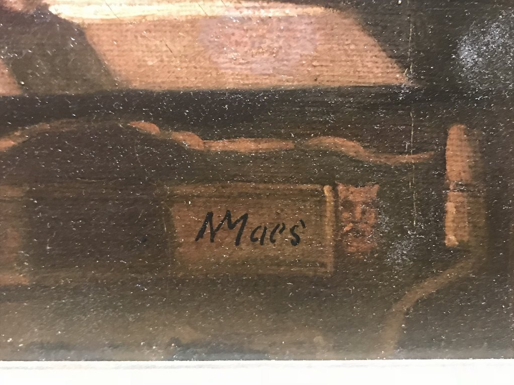 "Old Master painting signed ""NMaes"" - 2"