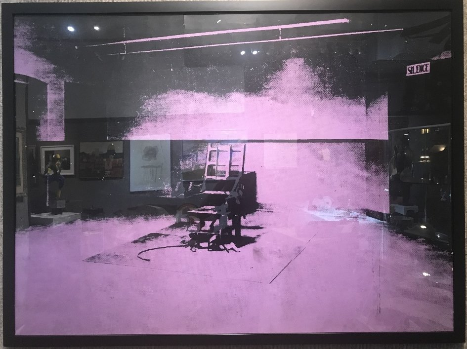 """""""Electric chair"""" by Sunday B.Morning, after Warhol"""