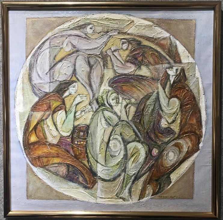 """""""Muses"""" painting by Moshe Katz"""