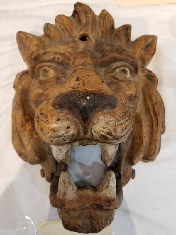Cast iron Amusement park lion, c.1900